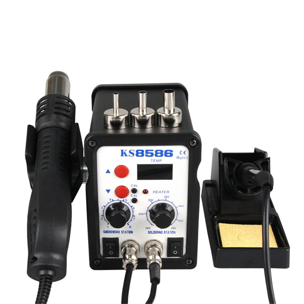 New 8586 700W ESD Soldering Station LED Digital Solder Iron Desoldering Station BGA Rework Solder Station Hot Air Gun Welder 936 esd soldering station 700w soldering station