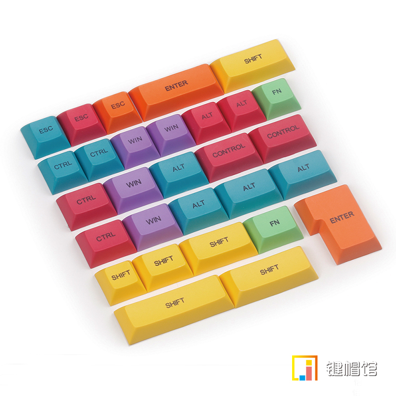 DSA PBT keycap modifier keys kit for mechanical keyboard 29 keys enter shift dye sub print tie dye shift mini dress