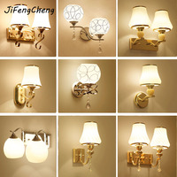 JiFengCheng Glass Sconces Reading Lamps Wall Mounted 110V 220V Crystal Sconce Led Wall Lamp Bedroom Wall Lighting Contemporary