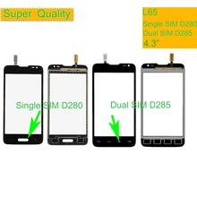 10Pcs/lot For LG L65 Single D280 D280N Dual SIM D285 Touch Screen Touch Panel Sensor Digitizer Front Glass Outer Touchscreen