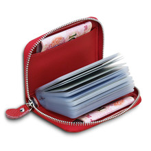 leather card holder multi-function Short wallet purse womens wallets and purses