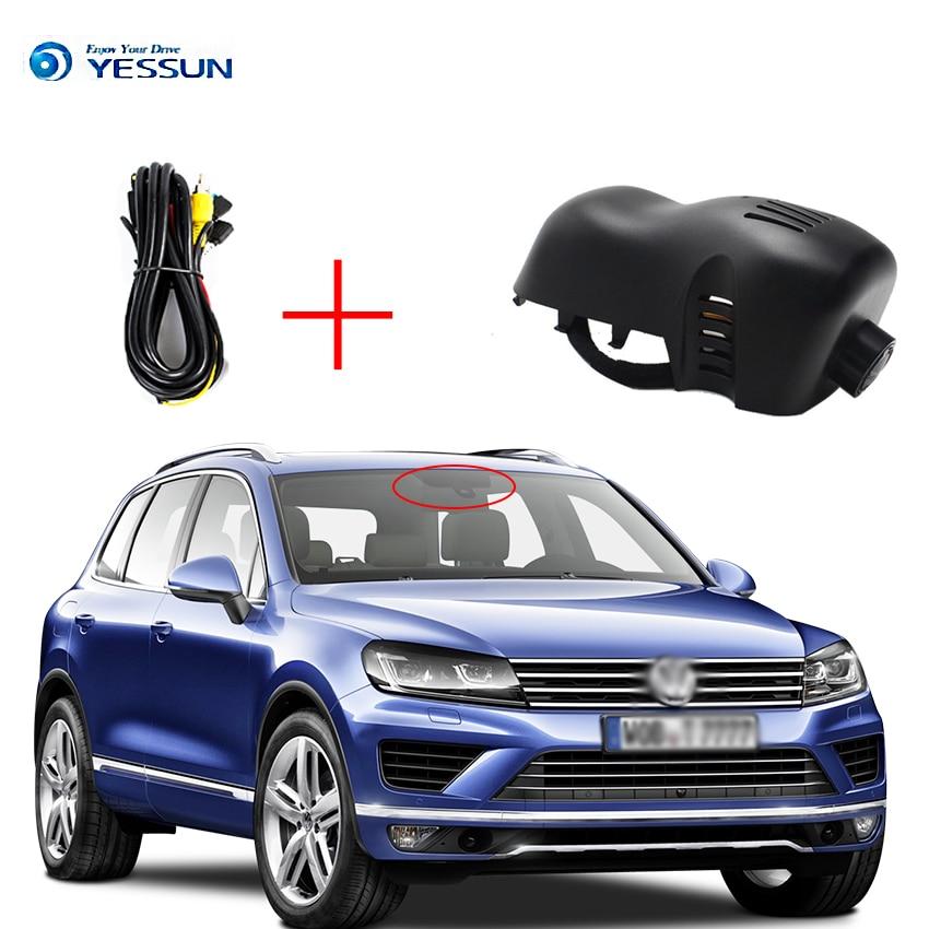 YESSUM WiFi Автомобильный видеорегистратор для Volkswagen VW Touareg 7p 1080P HD регистратор g сенсор WDR циклическая запись скрытого типа