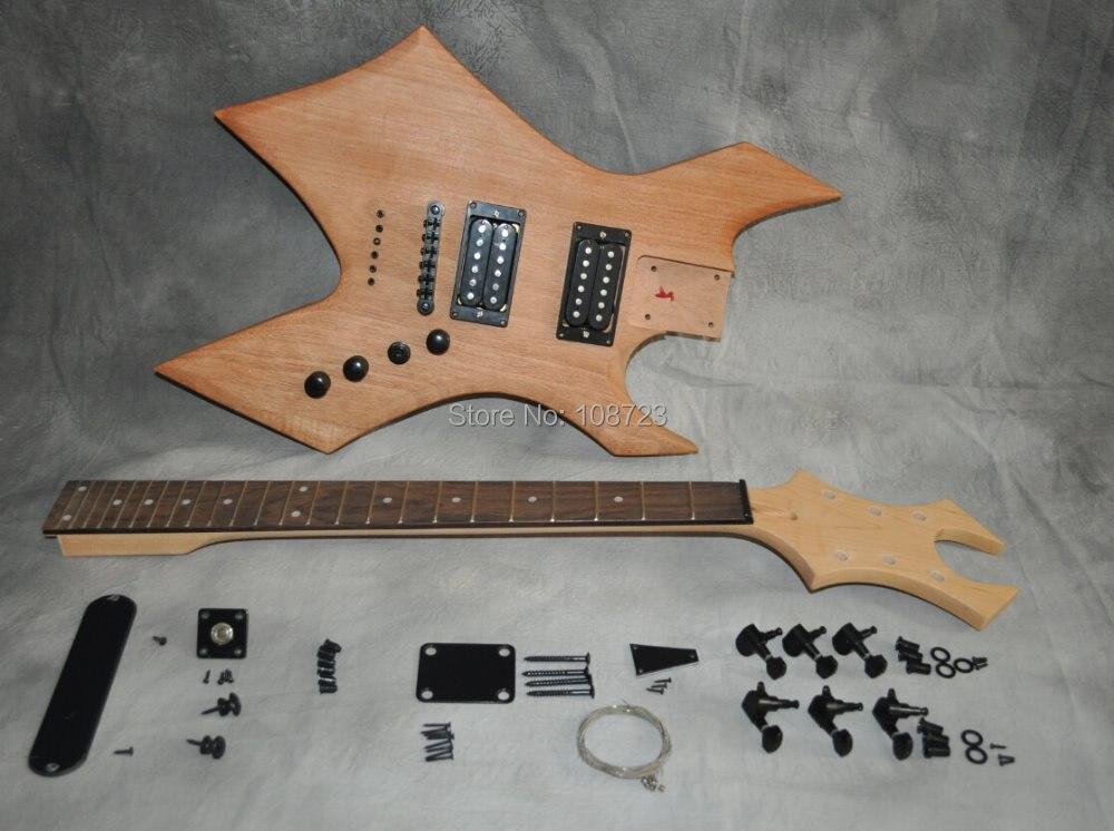 Kit guitare électrique bricolage corps acajou manche érable touche palissandre