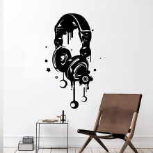 0Earphone Wall Stickers Modern Interior Art Decoration Kids Room Nature Decor Nordic Style Home
