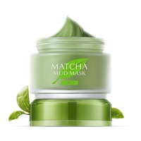 Matcha Mud Facial Mask Cream Whitening Anti-Aging Blackhead Remover Acne Treatment Deep Cleaning Oil-Control Moisturizing 6