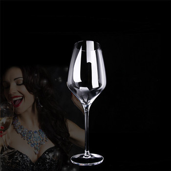 European 150/200mm Handmade Transparent Wine Cup Lead-free Crystal Glass Wine Glass Cold Cut High Grade Glass Goblet 4pcs