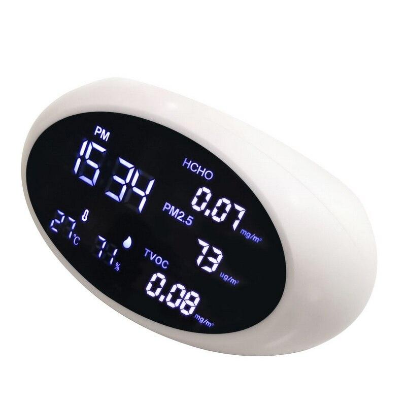 Aletler'ten Gaz Analizörleri'de Dijital Hava Kalitesi Monitörü PM2.5 Gaz Dedektörü Formaldehit Metre HCHO TVOC Test Cihazı Ev Sıcaklık Nem Analizörü Sensörü title=