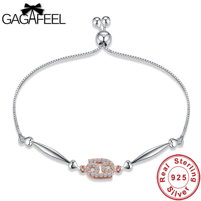 Gagafeel 12 Constellations Bracelets 2018 New Fashion Jewelry 925 Sterling Silver Cancer Women Wedding Best
