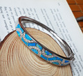 Charming Blue Fire Opal Cuff Bangle Bracelets for Women