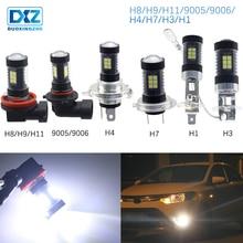 DXZ 1X led автоматическое Противотуманные фары лампы h1 h3 h4 h7 h8/H11/H9 9005/HB3 9006/HB4 12 v светодиодные дневные ходовые огни 3030 белый 6000 K аксессуары
