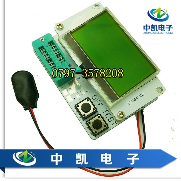 LCD large screen graphics display transistor tester inductance capacitance resistance tester capacitance ESR meter цена и фото