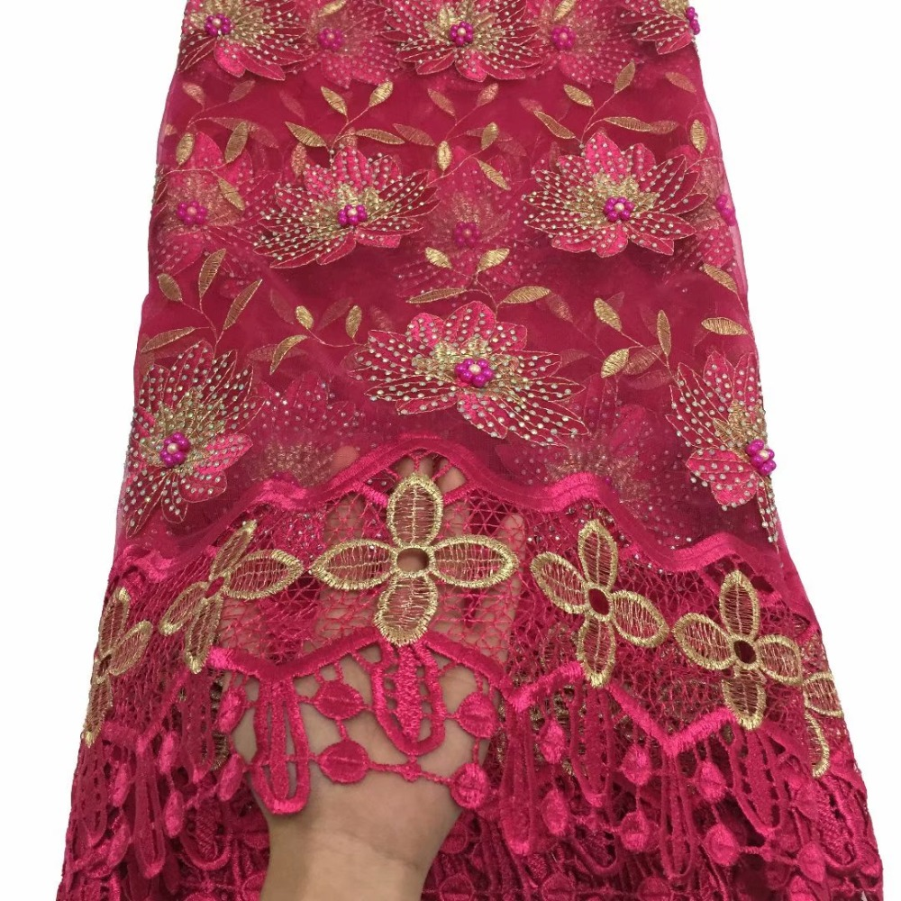 African Lace Fabric 2019 Embroidered Nigerian Stones Laces Fabric High Quality French Tulle Lace Fabric For Women  YDDE272African Lace Fabric 2019 Embroidered Nigerian Stones Laces Fabric High Quality French Tulle Lace Fabric For Women  YDDE272