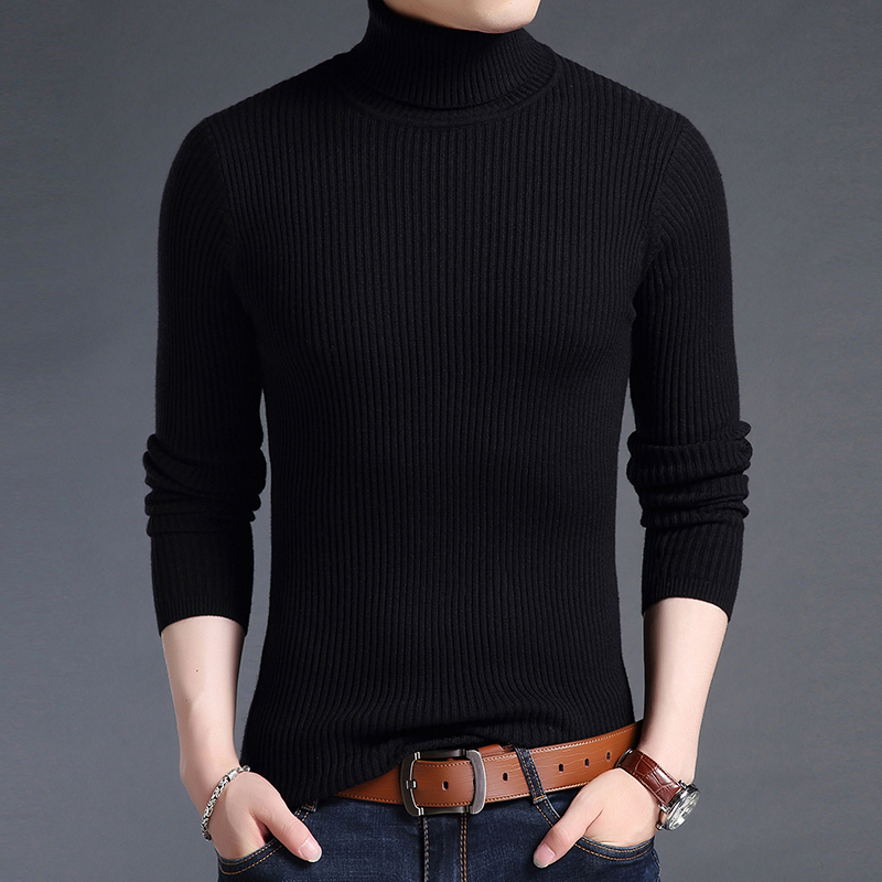 Liseaven Men Pullover Sweaters Turtleneck Casual Sweater For Men's Clothing Male Pullovers