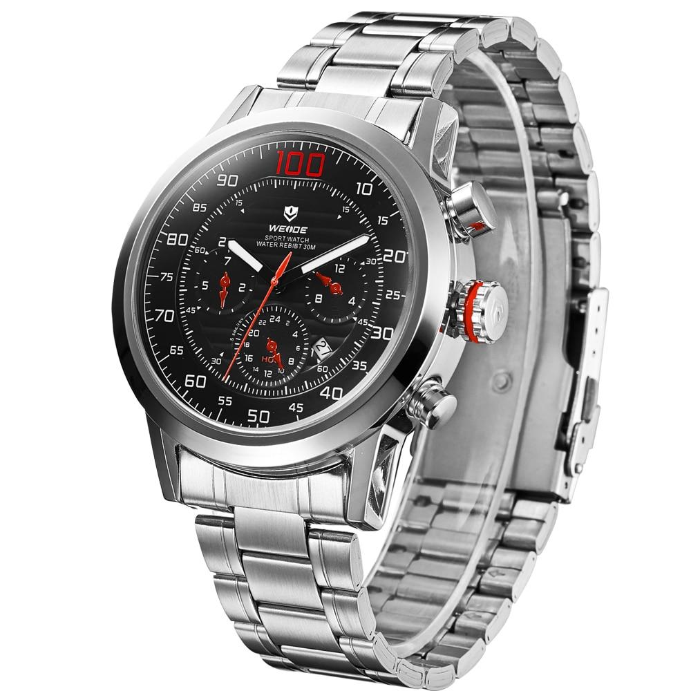 ФОТО 2017 New WEIDE Fashion  Wrist Watch Men Top Brand Luxury Male Clock Quartz Watches large new waterproof Relogio Masculi