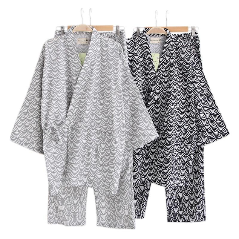 24d3b5f020 Detail Feedback Questions about Spring 100% cotton pajamas sets men  Japanese kimono long sleeve pyjamas couples simple pijama hombre SPA Robe  suit men on ...