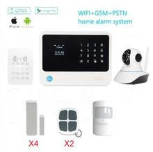 New Product WiFi Alarm System Door gap sensor Internet GSM Alarm System Home Alarm Security network 720P WiFi IP camera