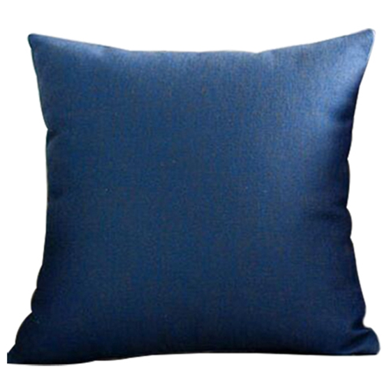 Nordic Fashion Pillowcase Romantic Simple Home Cotton Linen For Living Room Bedroom Dark Blue
