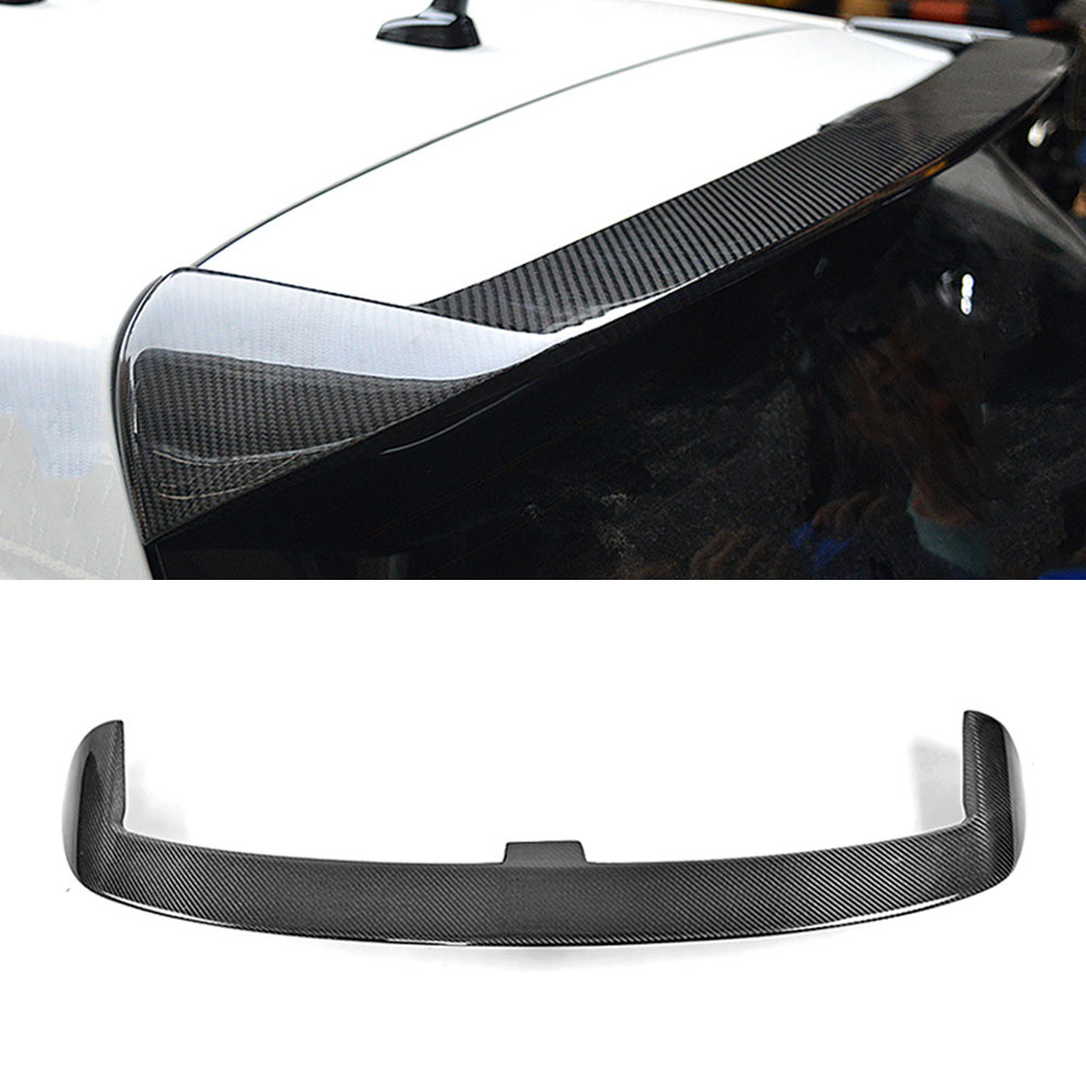 Carbon fiber rear roof spoiler lip wings for Volkswagen VW Golf 6 MK6 VI Sandard 2010 2013 V Style