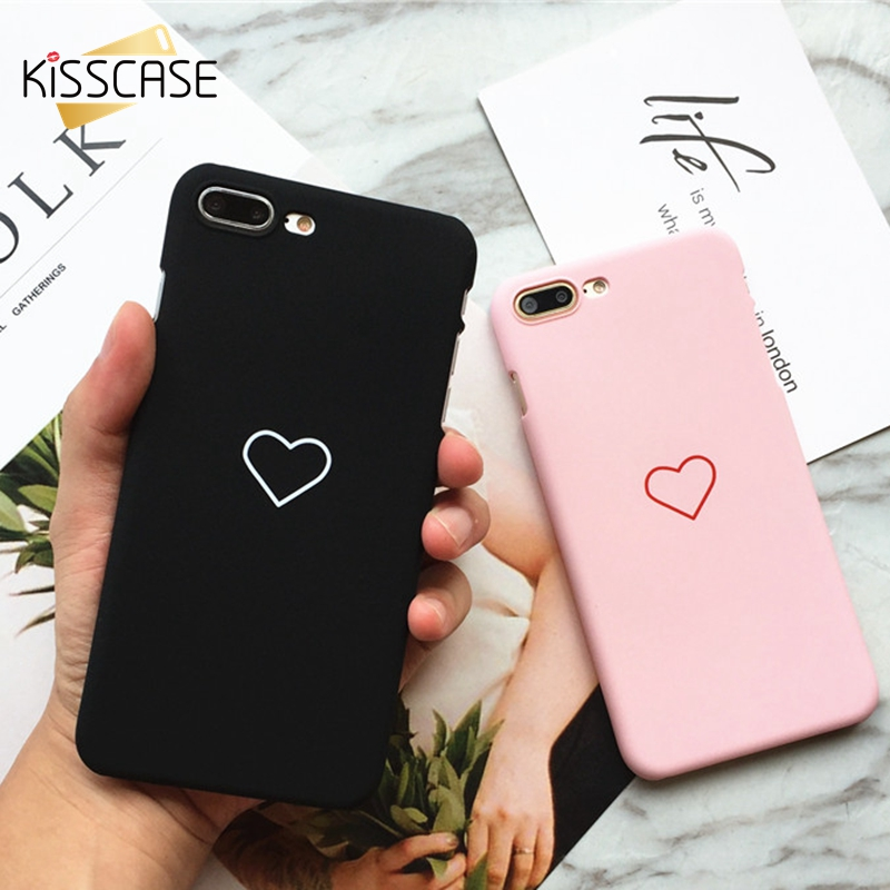 KISSCASE Cute Love Heart Case For iPhone 6 6s 7 Cases Mobile Phone Case For iPhone X 5s 5 se 8 7 6 6s Plus Girly Coque Capinhas