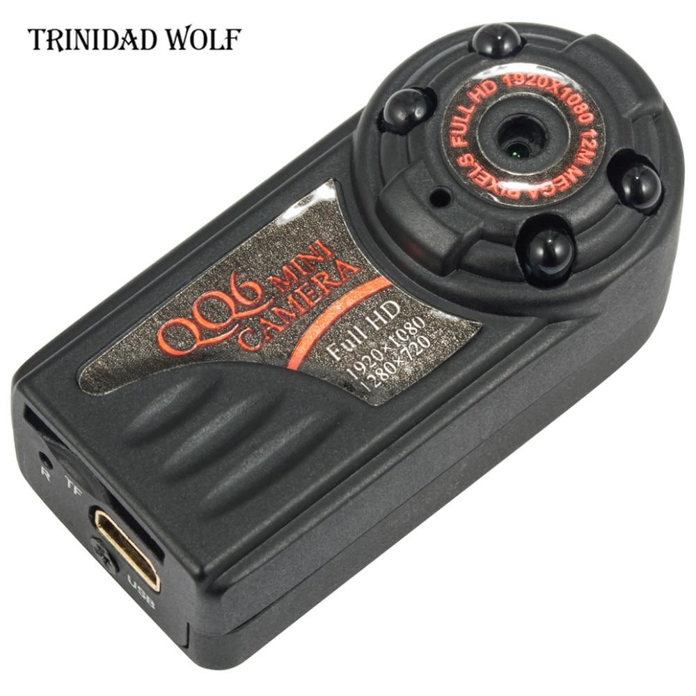 TRINIDAD WOLF QQ6 Mini Camera Full HD 1080P Wide Angle Camera DV DVR IR Night Vision Motion Detection Sensor Micro Web Camera