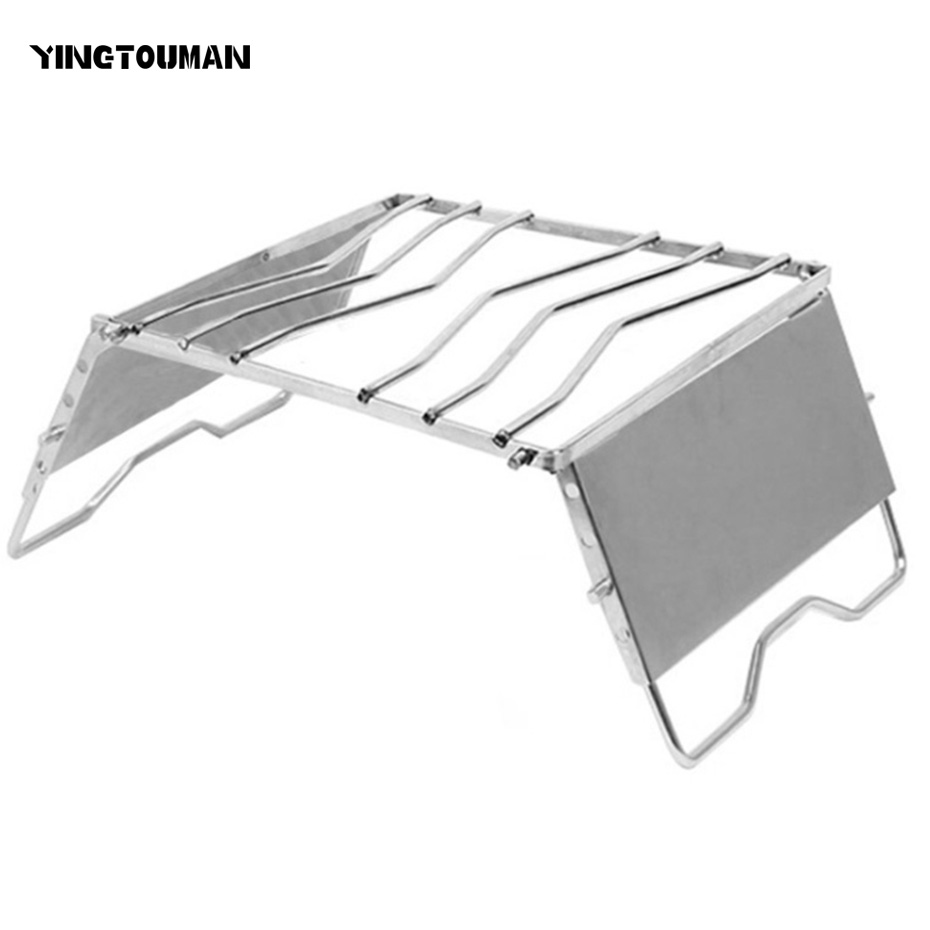 YINGTOUMAN Stove Shelf burner Stents Outdoor Picnic barbecue Fishing Camping Pot Sets Pan Shelf BBQ Foldable Holder bulin 3800w portable outdoor gas stove foldable aluminum alloy cooking camping split burner stove for hiking picnic bbq 2017 hot
