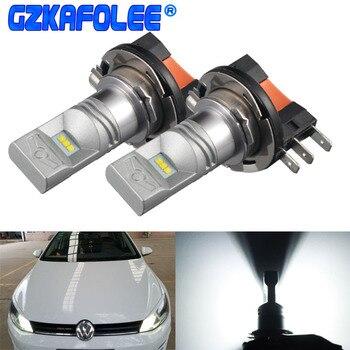 GZKAFOLEE 6000K biały zasilany LED H15 LED światło dla Audi BMW Mercedes Volkswagen VW żarówki led do reflektorów samochodowych światła drogowe DRLights