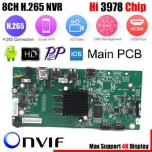 8CH CCTV H.265 NVR مجلس 4K/5MP/4MP HI3798M الأمن NVR وحدة 4CH 5MP / 8CH 4MP XMEYE P2P مراقبة المحمول سحابة عرض