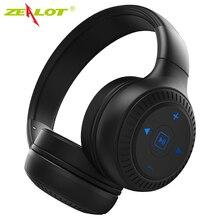 ZEALOT B20 스테레오 블루투스 헤드셋 헤드폰 (마이크베이스 포함) 접이식 무선 이어폰 (컴퓨터 폰용) Aux 지원