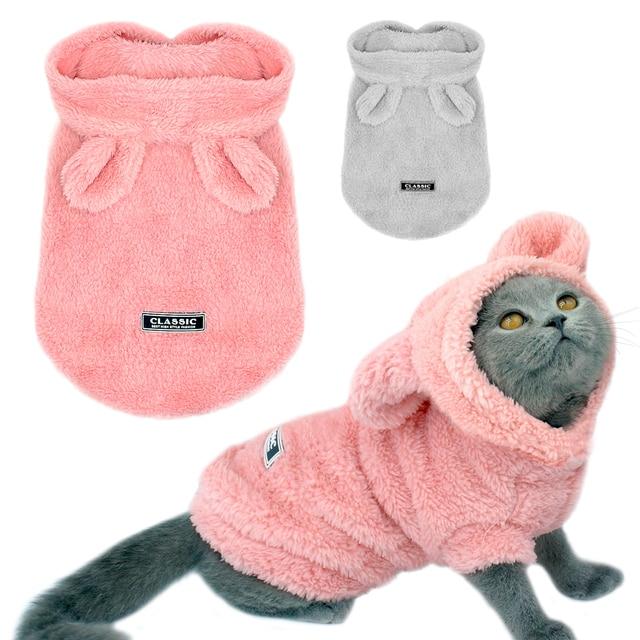 Warm Winter Kitten Coat