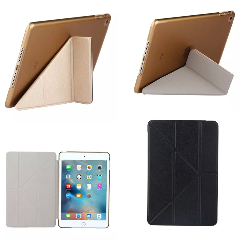 New CSW BX Tablets Accessories Smart ColorFul Clear Silk PU Leather Case For ipad mini4 Mini