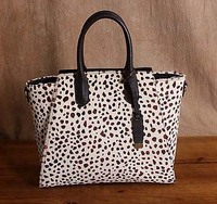 Бесплатная доставка с леопардовым принтом натуральная кожа женские сумки большой сумка из воловьей кожи лошадь мех безграмотность портати