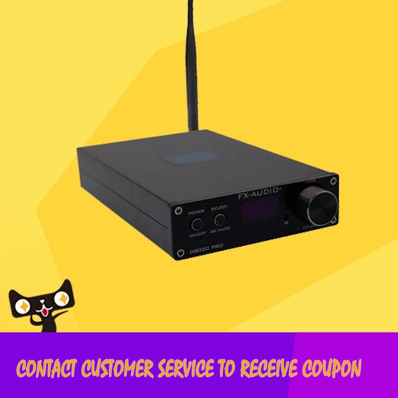 FX-Audio D802C pro Wireless 4.2 Bluetooth Input USB/AUX/Optical/Coaxial Pure Digital Audio Amplifier 24Bit/192KHz 80W+80W OLED