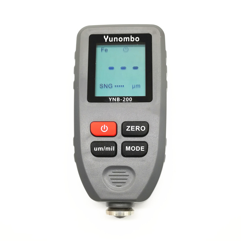 Yunombo Digital Display Auto Car Paint Thickness Meter Film Thickness Tester Coating Thickness Gauge with English Russian Manual digital coating thickness gauge 1 micron 0 1300 fe nfe car paint film auto gy910 digital thickness tester meter english russian