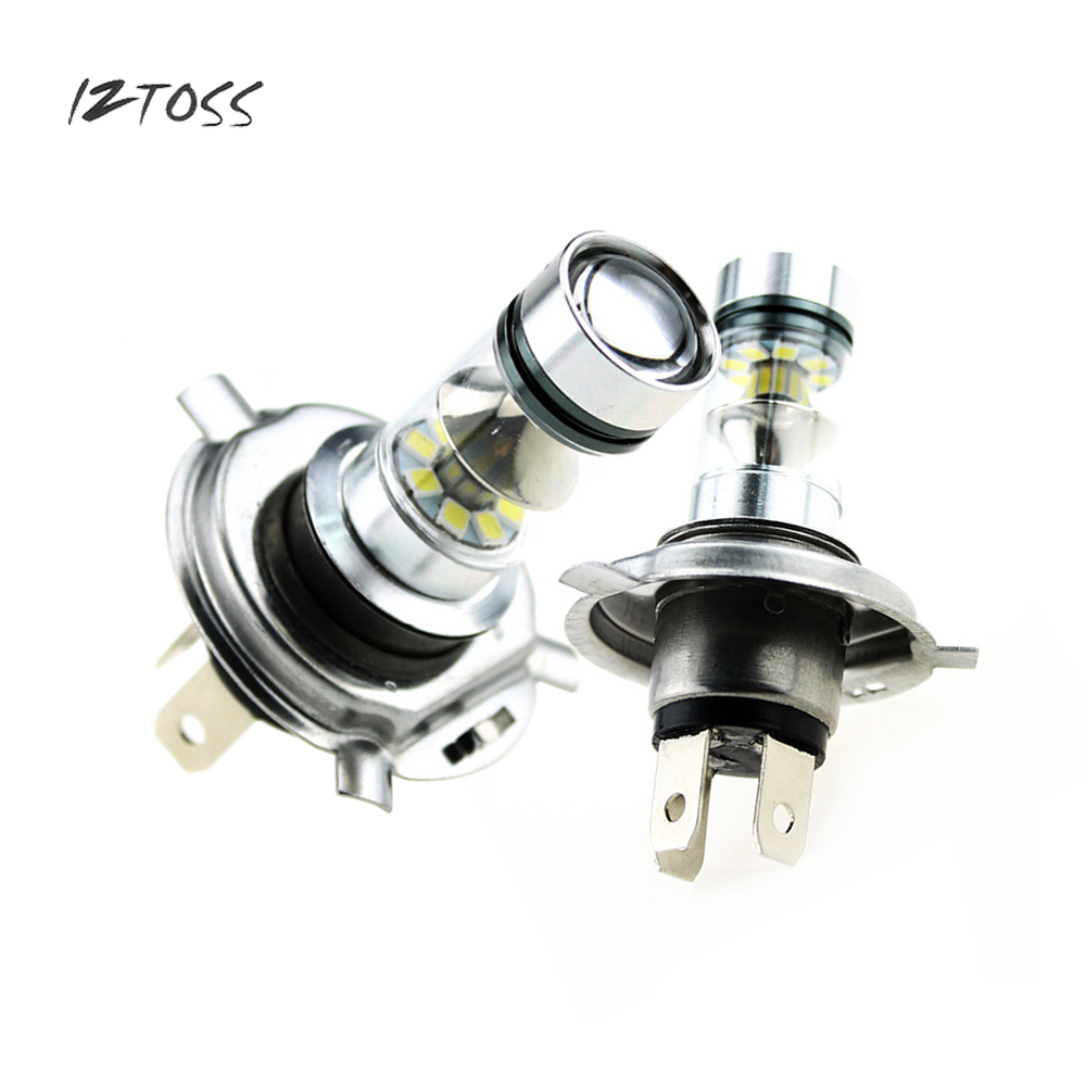 IZTOSS H4-100W Power Led Fog Light Bulb 20LED Fog Light Far And Near Light 12-24V 1000LM White H4 Led Fog Light 2pcs