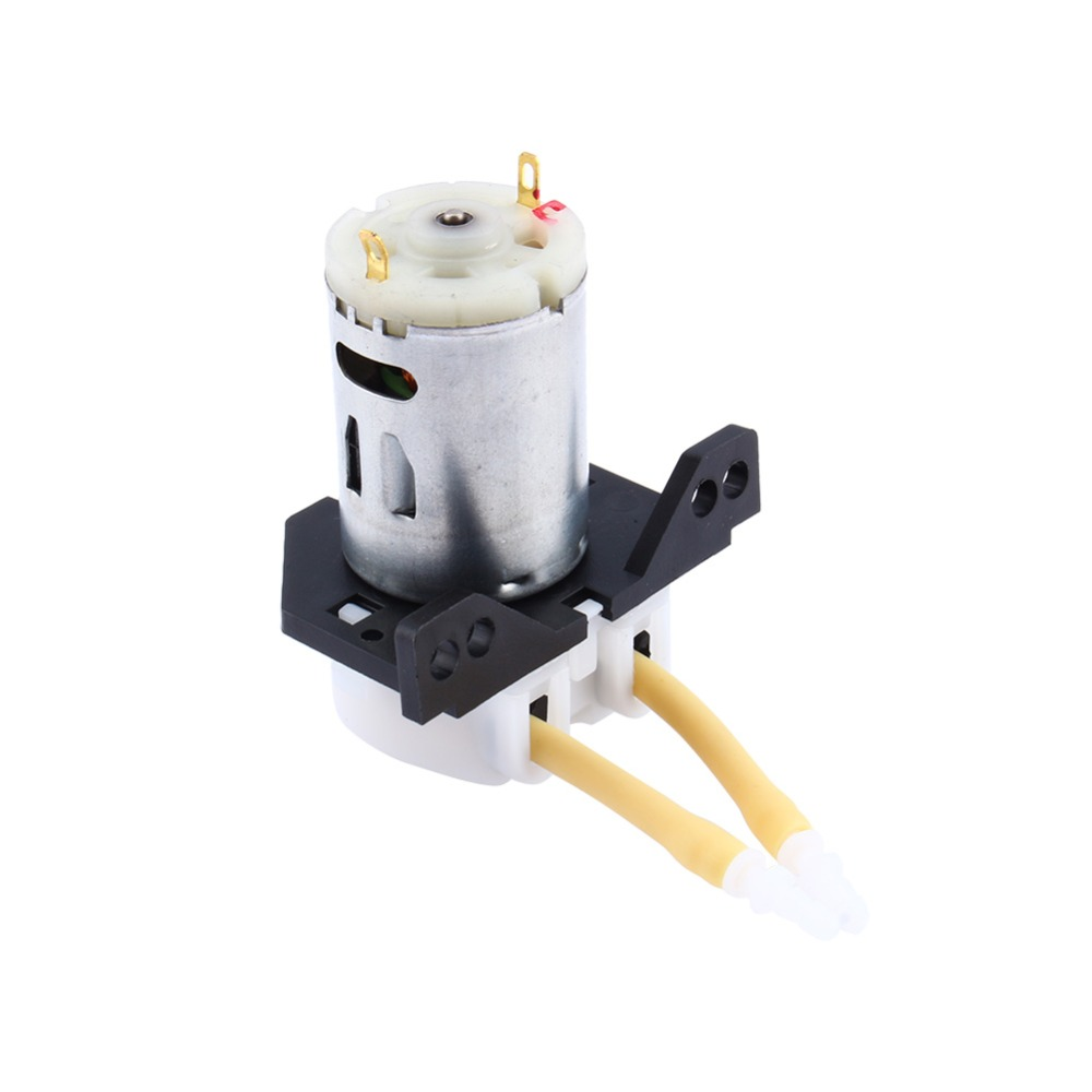 Peristaltic Pump DC 12V D2 Small Dosing Water Pump 2mm Peristaltic Tube Head Liquid Pump for Aquarium Lab Water Analytical Tools