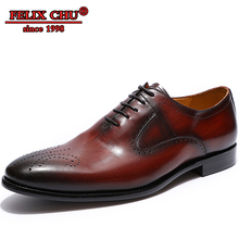 Luxury Brand Classic Genuine Leather Men Whole Cut Plain Oxford Lace Up Wedding Party Man Wine red Dress Shoes Brogue Carved