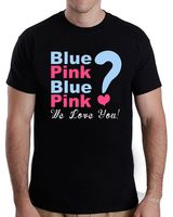 Tailored Shirts Gender Reveal Party Blue Pink Blue Pink We Love You T Shirt Short Sleeve