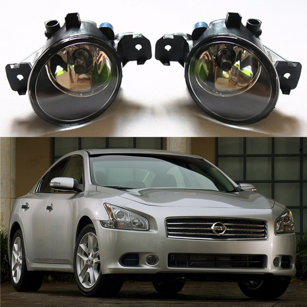 For nnissan maxima 2009 2014 car styling fog lamps front bumper halogen lights 1set