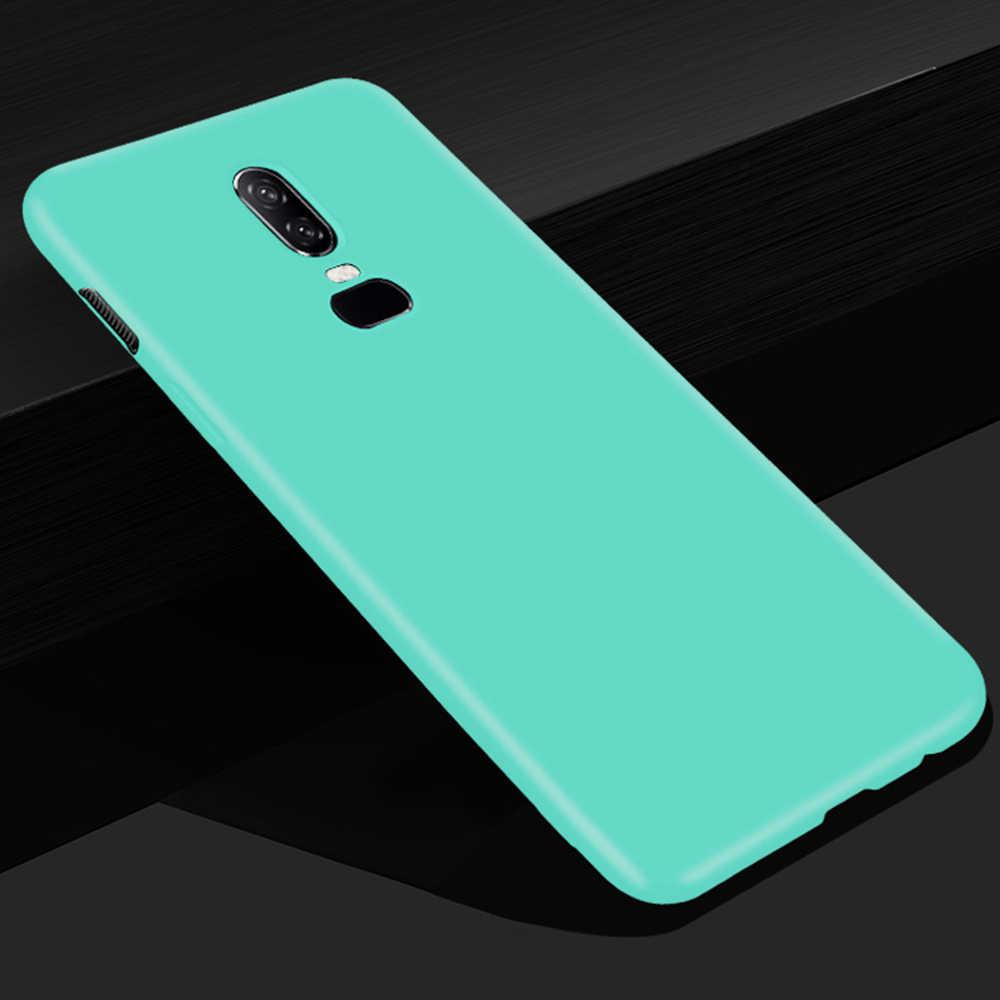 Funda suave para OnePlus 5 T 5 6 funda trasera mate suave TPU funda de teléfono resistente a la suciedad para OnePlus 6 Fundas de silicona Capa