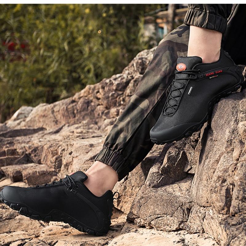 XIANG GUAN Hombre Senderismo Zapatos Hombre Botas de Trekking - Zapatillas - foto 2