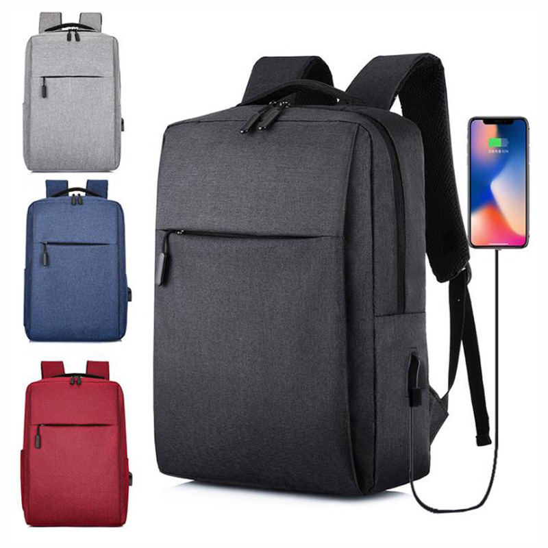 Simple Business Backpack Unisex Large Capacity Computer Bag Leisure Charging Travel Backpack
