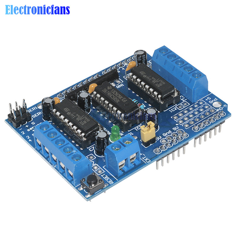 L293d motor shield stepper driver board control module for L293d motor driver module