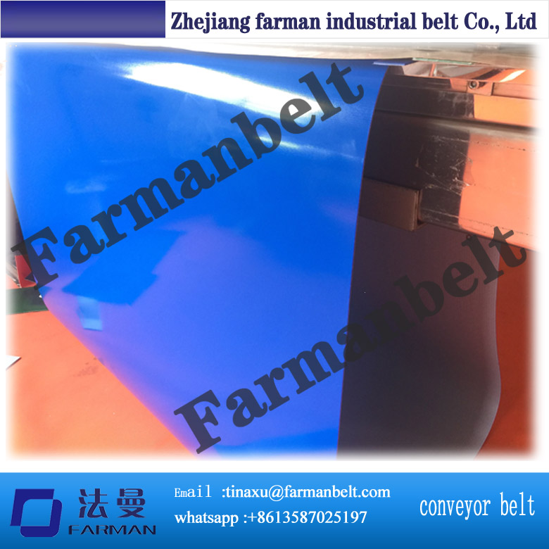 2mm thickness blue PVC conveyor belt farman pvc conveyor belt thickness 1 5mm color green