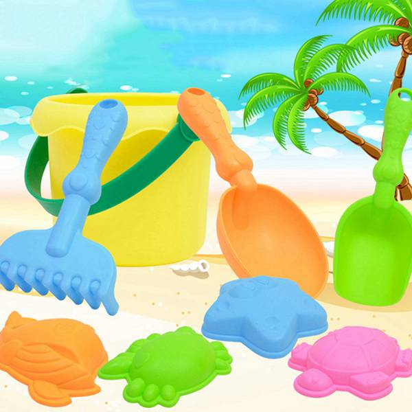 8 Sets Of Children Playing Sand Dredging Tools Playing Water Beach Toys in Beach Sand toys from Toys Hobbies