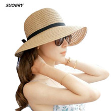 Fashion Beautiful Adult cap Bow Straw hat Summer Sun Beach caHat Girl Women sun hats for women kentucky derby