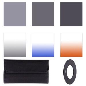 Image 2 - Полный ND 2 4 8 + постепенный Синий Оранжевый Серый фильтр 49 52 55 58 62 67 72 77 82 мм набор для Cokin P набор SLR DSLR объектив камеры