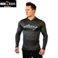 חדרי כושר גברים חדשים קפוצ 'ון כותנה שרוול קצר חולצות כושר פיתוח גוף ספורטוויר אימון סלעית