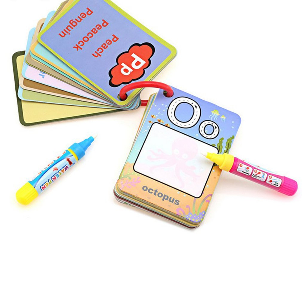26 Alphabet Numbers Color Book & 2 Magic Pen Letter Card Water Drawing Card Cognitive Painting Board Kids Baby Educational Toys26 Alphabet Numbers Color Book & 2 Magic Pen Letter Card Water Drawing Card Cognitive Painting Board Kids Baby Educational Toys