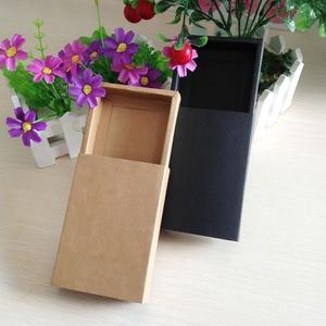 Image 2 - Caixa de presente preta de varejo 50 pçs/lote, embalagem de caixas de papelão para gaveta de papel de presente artesanato