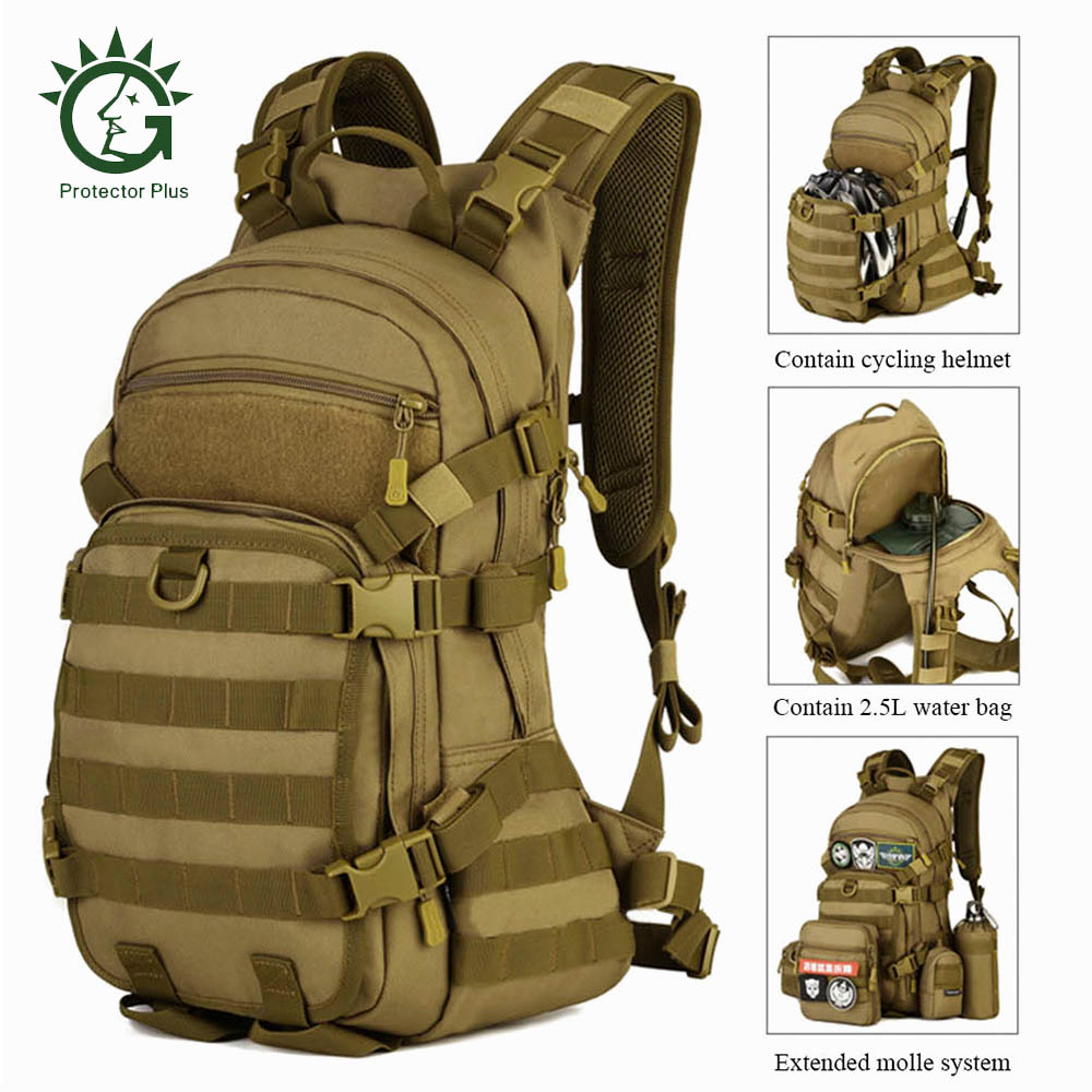 Protector Plus 25L Military Tactical Camping Backpack Waterproof Bag Climbing Hiking Bag Military Backpack Rucksack Outdoor Bag